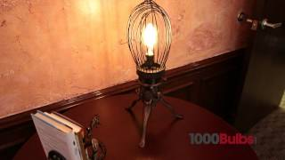 Vintage Whisk Table Lamp From Bobo Intriguing Objects