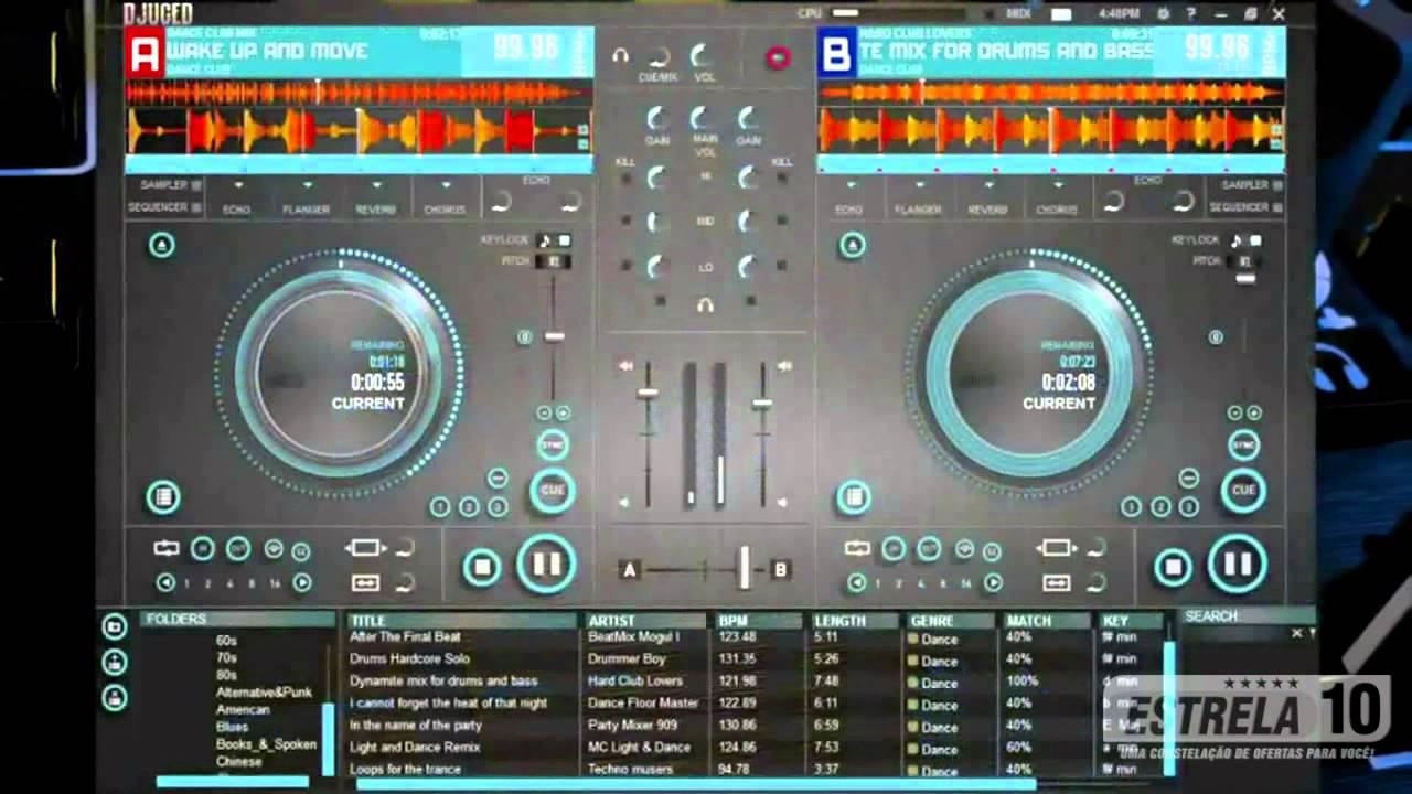 Mesa de som para dj hercules dj control instinct youtube for Mesa de mezclas para pc