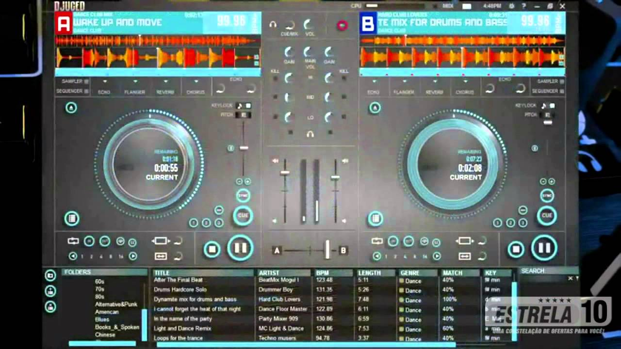 mesa de som para dj hercules dj control instinct youtube