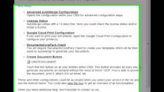 AutoMerge Online Service Configuration for MS CRM 2013