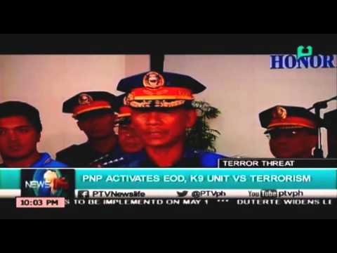[NewsLife] PNP activates EOD, k9 unit vs Terrorism [04|25|16
