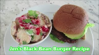 Jen's Black Bean Burger Recipe | Vegan