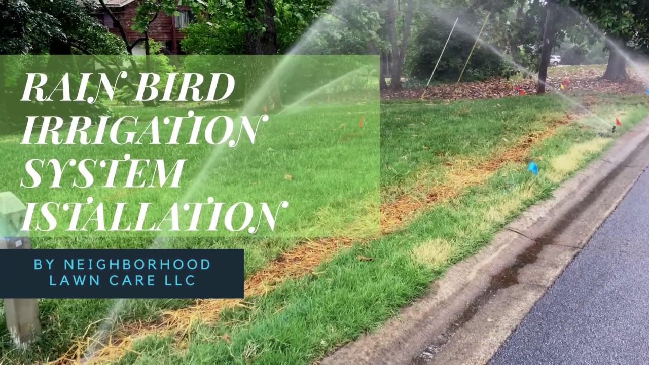 Rain Bird Irrigation System Installation Youtube