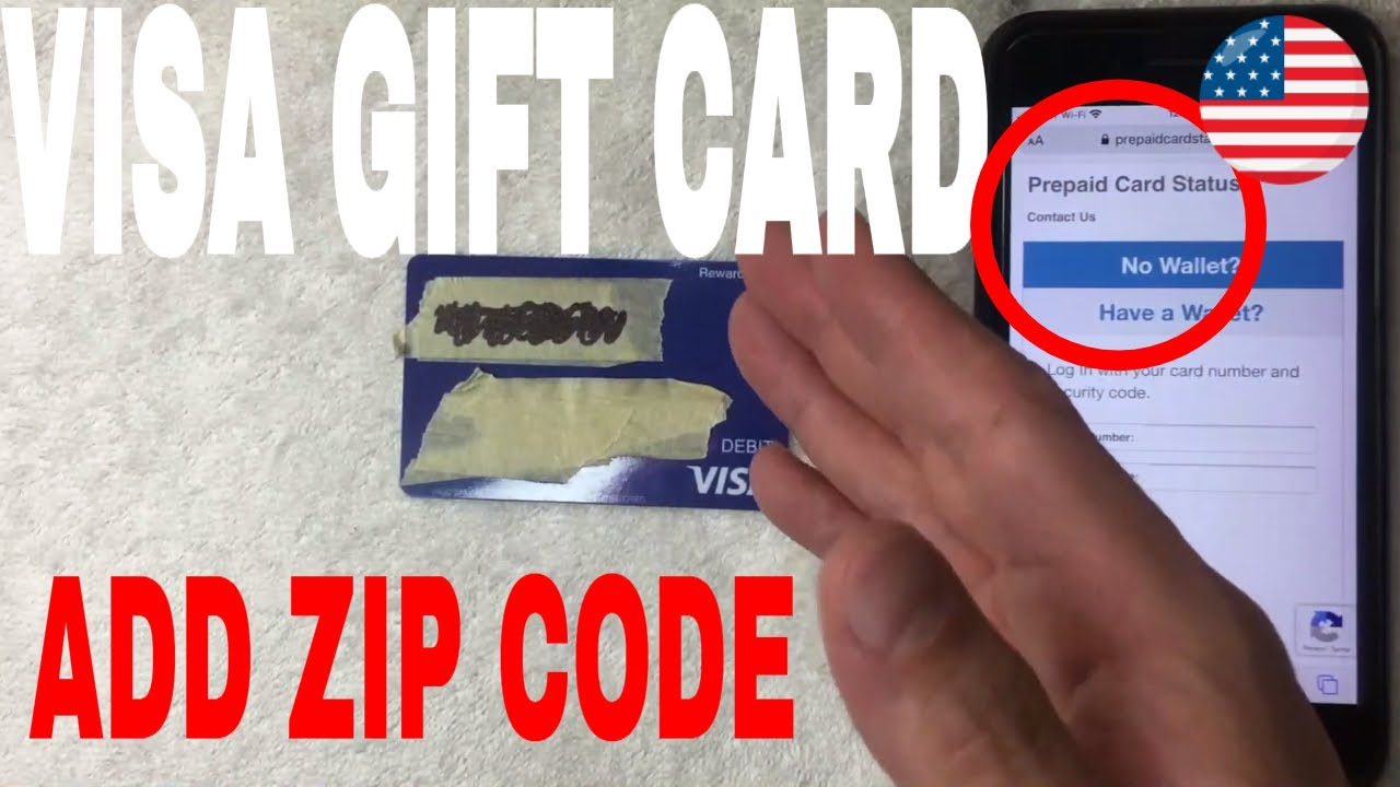 How To Register Zip Code On Visa Gift Card Youtube