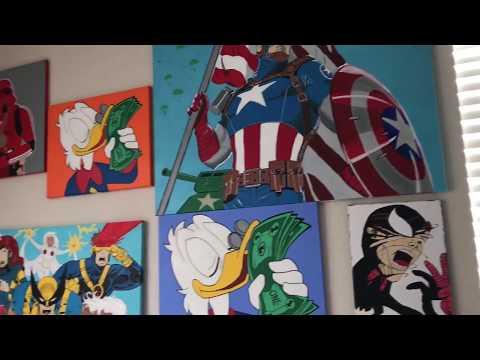 ArtResin covered Spiderman comic book art