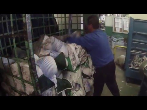 ALSCO continuous roll towel cleaning process video