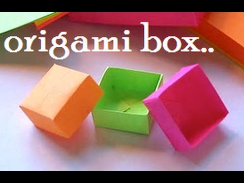 Papercraft EASY PAPER BOX || DIY PAPER CRAFTS || ORIGAMI