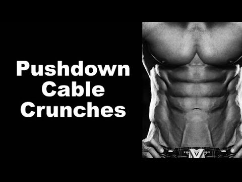 Get Six-Pack Abs That POP With Cable Pushdown Crunches
