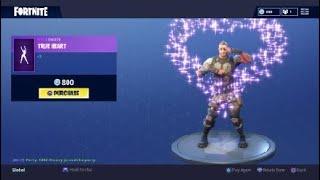 Fortnite: Battle Royale - New Emote - True Heart (Battlehawk Skin)