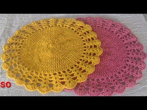 Sousplat em crochê/ fácil,  rápido e prático de fazer