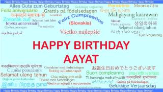 Aayat   Languages Idiomas - Happy Birthday