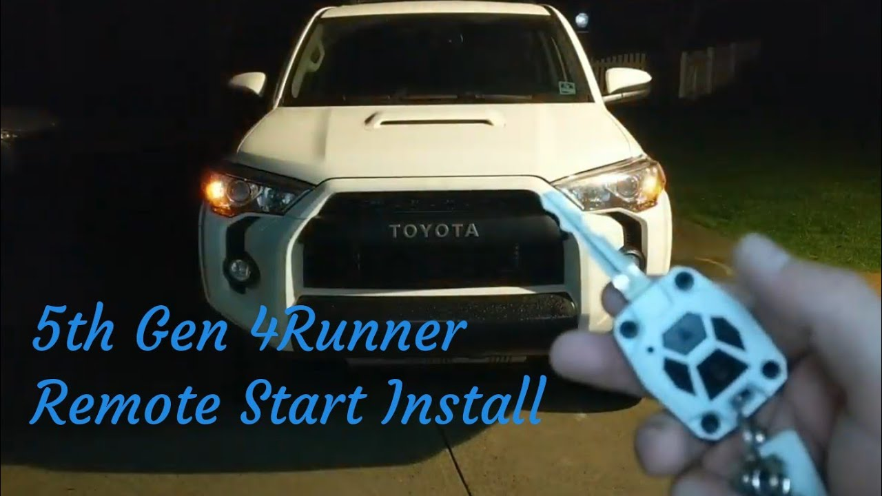 4runner 5th Gen Accessorides Remote Start Install And Overview