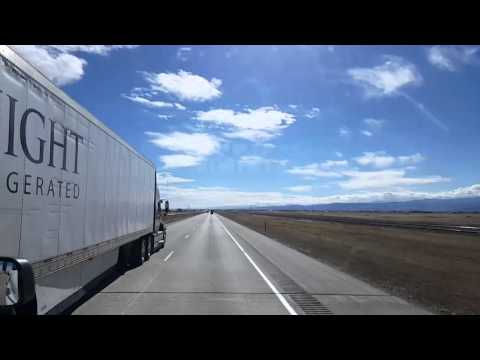 Bigrigtravels Live -Carr to Commerce City, Colorado- I-25 South -Thu Feb 18 13:23:25 MST 2016