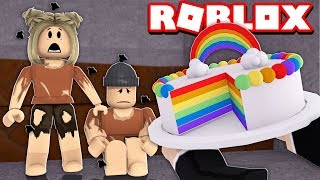 GIVING FOOD TO POOR PEOPLE | ROBLOX-Bakers Valley, California