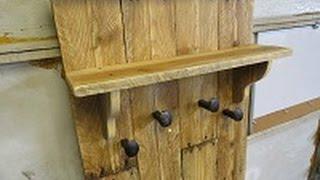 old pallet wood coat rack