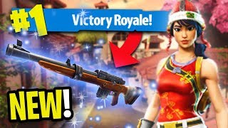 LUCKY LANDING AND HUNTING RIFLE GAMEPLAY *VICTORY!* | Fortnite Battle Royale