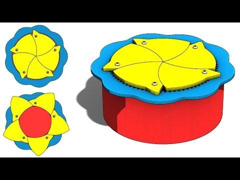 SolidWorks G Tutorial #304 : Iris Box (flower shape equation)