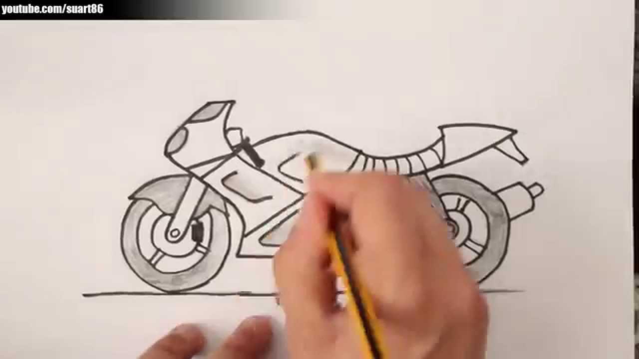 Como Dibujar Una Moto Youtube