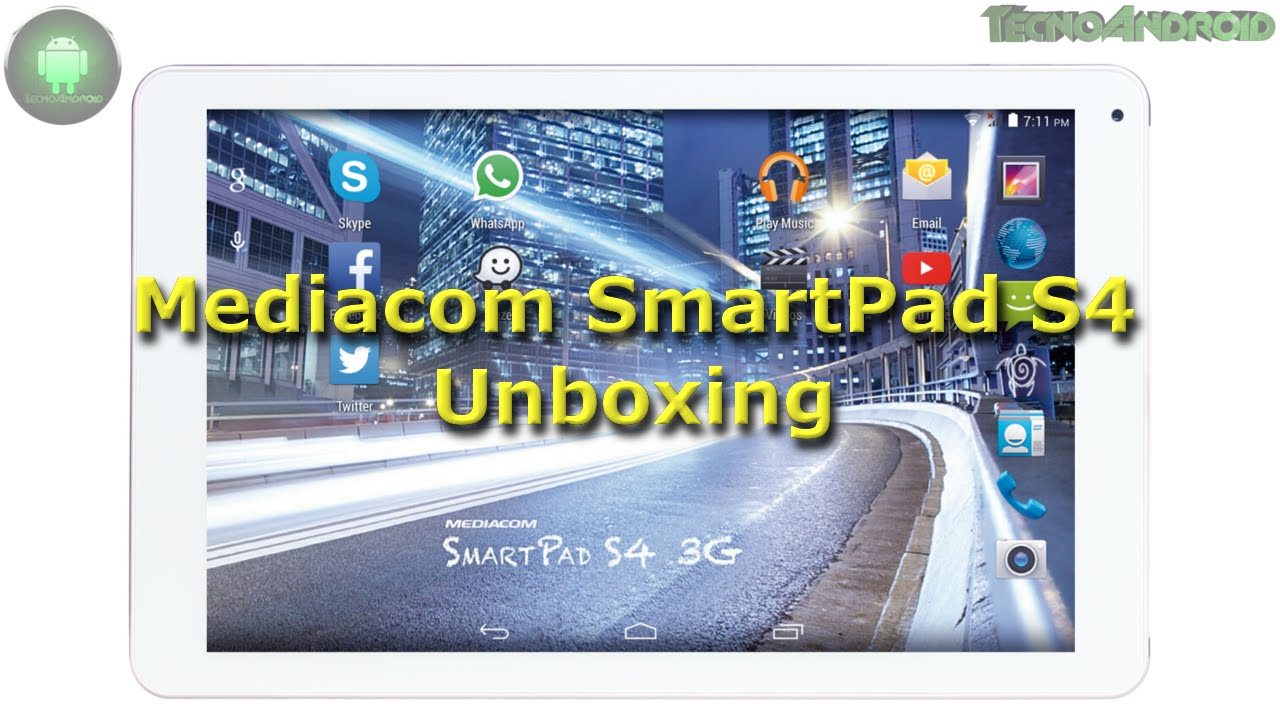 Mediacom SmartPad S4 10.1 3G unboxing ITA