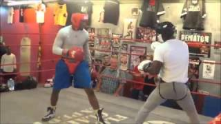 Florida Golden Gloves champion Julien March sparring at Flacco's Boxing Gym
