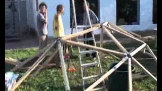 Купол. Каркас из дерева и метала.(Собрали за два дня., 2011-08-29T15:47:18.000Z)
