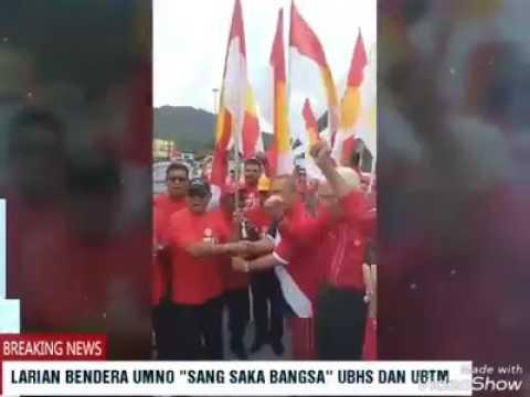 (Video) Tanjung Malim - Menerima bendera UMNO Sang Saka Bangsa
