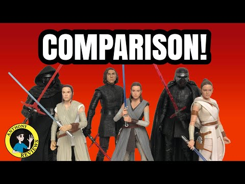 Star Wars The Black Series Rey And Kylo Comparisons