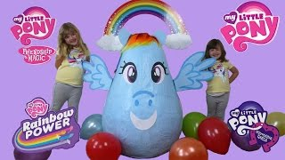 my little pony super giant surprise egg worlds biggest kinder egg play doh surprise toy unboxing