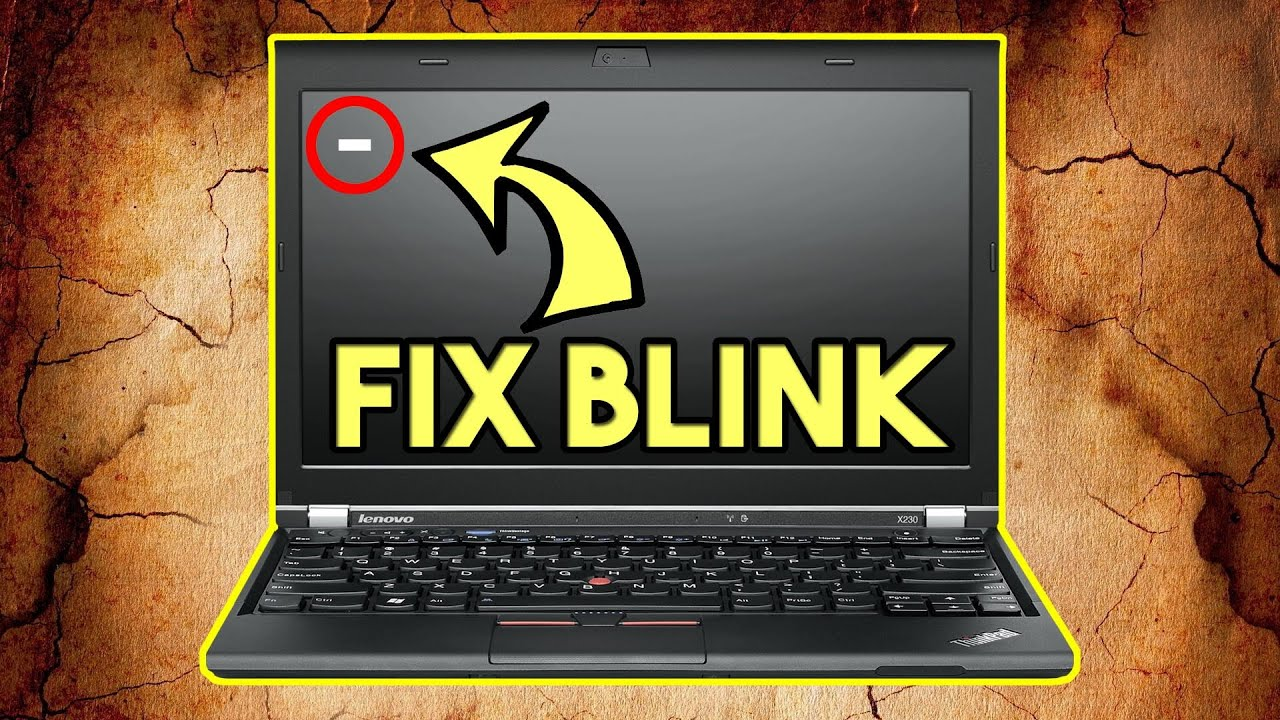 Blinking Cursor Black Screen Windows 10 Easy Fix Samsung Rv520 Youtube