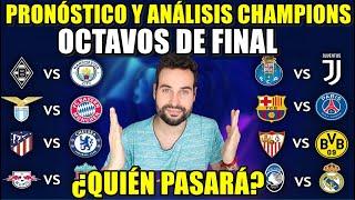 PRONÓSTICO y ANÁLISIS de los OCTAVOS de FINAL de la CHAMPIONS 2021 - ¡VAYA DUELOS!