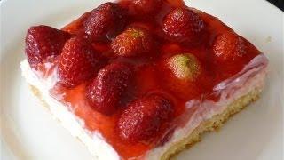 Erdbeer-Schmand Torte-Cilekli pasta