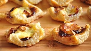 Brie and Jam Puff Pastry Appetizers | QUICK! | RecipesAreSimple