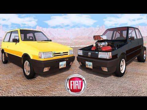 Fiat Marka Arabalar Çarpışma Testi - BeamNG Drive