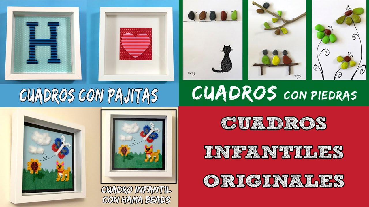 3 ideas de cuadros infantiles originales youtube - Ideas de cuadros ...