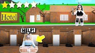 I Stayed At The WORST Reviewed Hotel... She TRAPPED Me In Her BASEMENT! (Roblox Bloxburg)