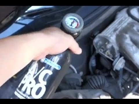 How to Recharge a Car's AC System the Easy Way  YouTube