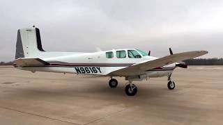 1963 Beechcraft Twin Bonanza Engine Start