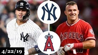 New York Yankees vs Los Angeles Angels Highlights | April 22, 2019