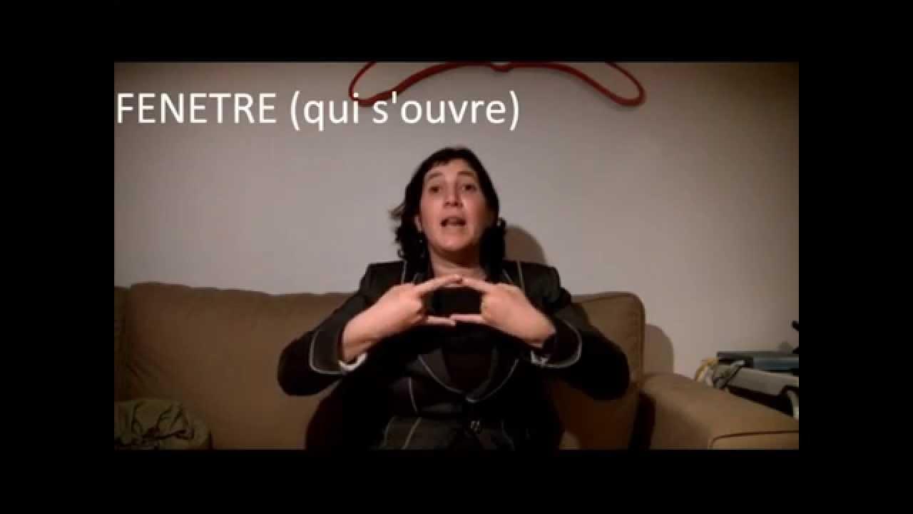 Fenetre ouverte avec mots en langue des signes youtube for Calfeutrage fenetre