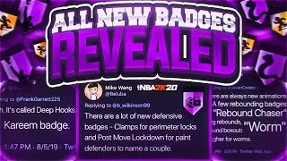 EVERY NEW BADGE IN NBA 2K20 LEAKED • EVERYTHING WE KNOW ABOUT NBA 2K20 GAMEPLAY SO FAR...