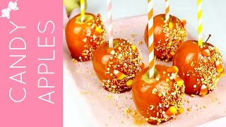 How To Make Easy Halloween Candy Apples // Lindsay Ann Bakes