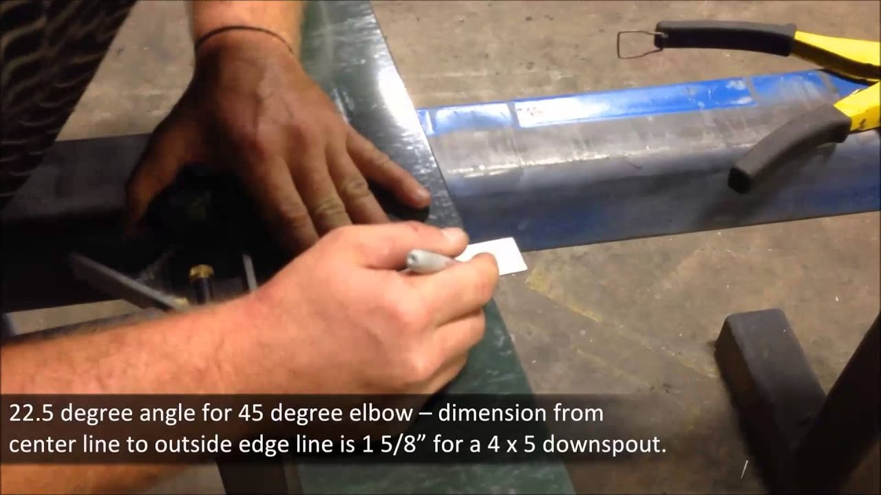 Tech Tip How To Miter A Downspout Youtube