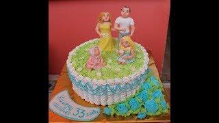 Как украсить торт на день рождения. Семейный торт мужчине на день рождения(, 2017-06-29T21:13:39.000Z)