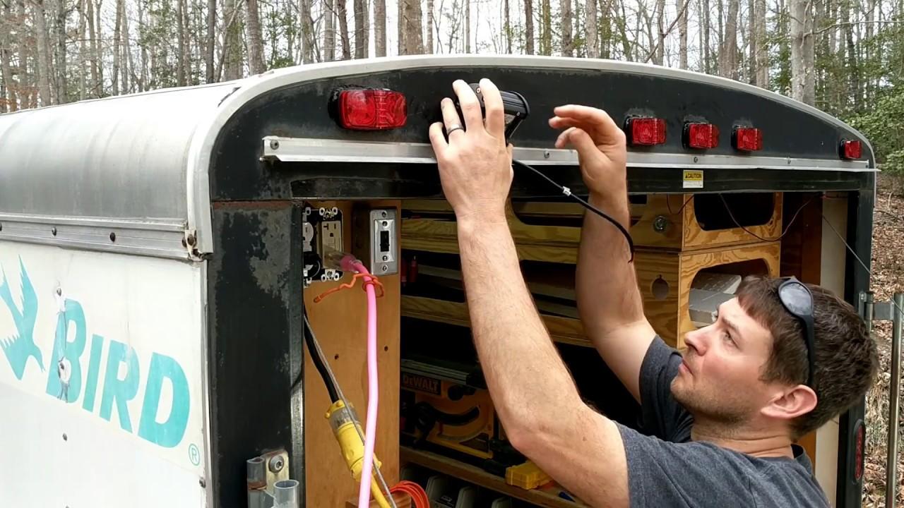 trailer backup light wiring cargo trailer reverse light installation youtube  cargo trailer reverse light
