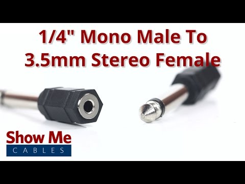 "1/4""-mono-male-to-3.5mm-stereo-female-adapter-#961"
