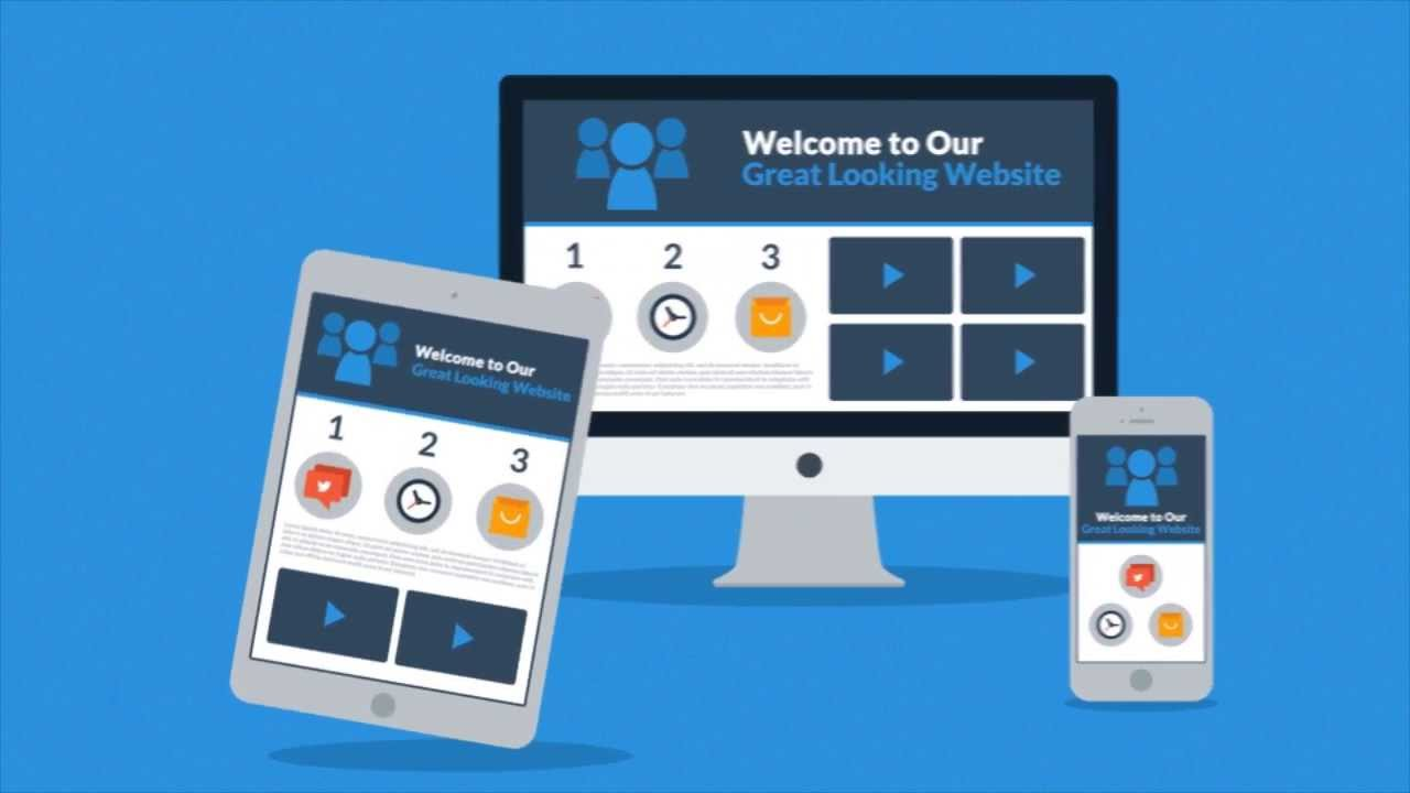 After Effects Template Responsive Design Explainer YouTube - Awesome after effects website template design