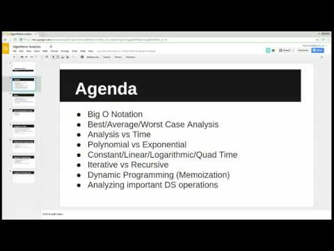 Algorithms Analysis