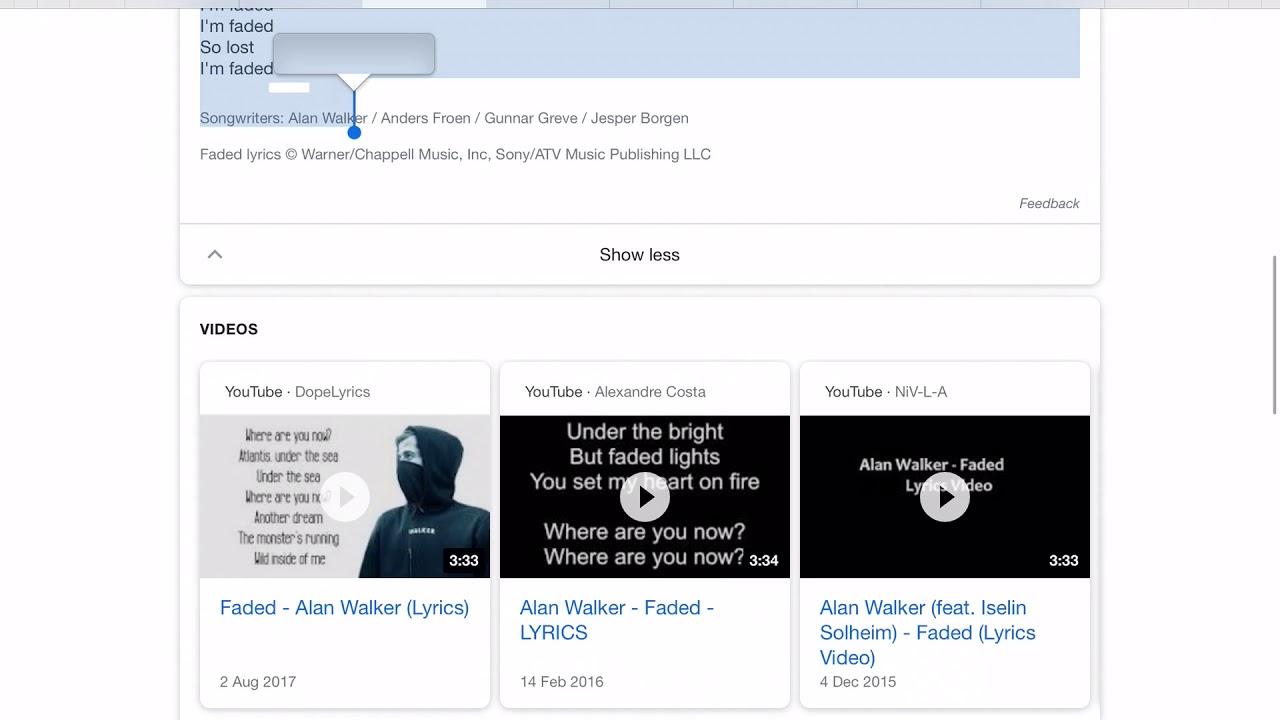 Siri Sings Faded By Alan Walker Youtube