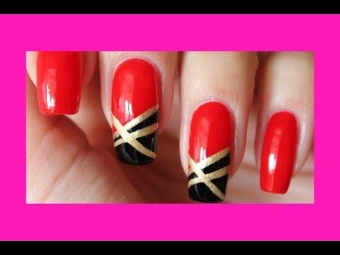 Маникюр красное золото / Manicure red gold