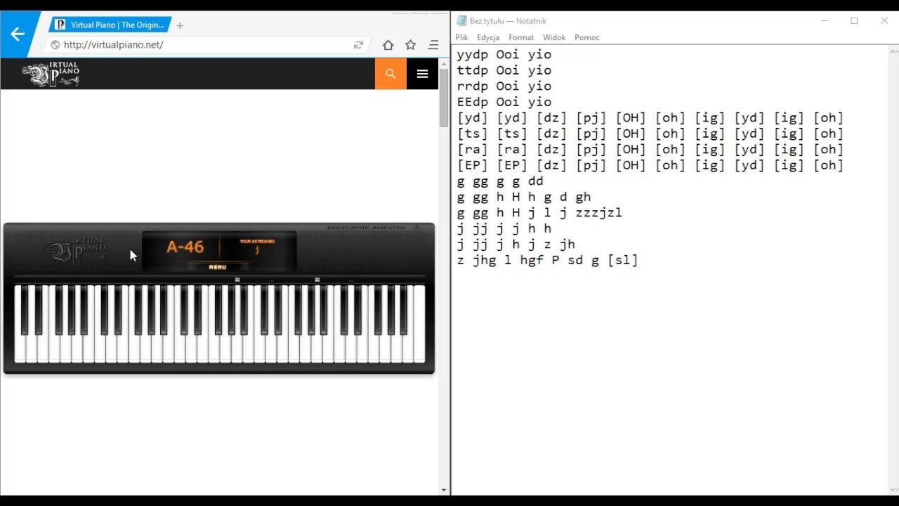 Virtual Piano - Megalovania [part 1] - YouTube